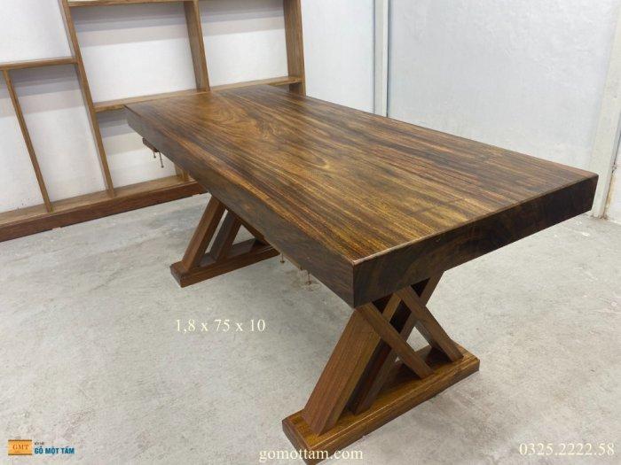 Bàn gỗ me tây nguyên tấm dài 1,8m rộng 75cm dày 10cm3