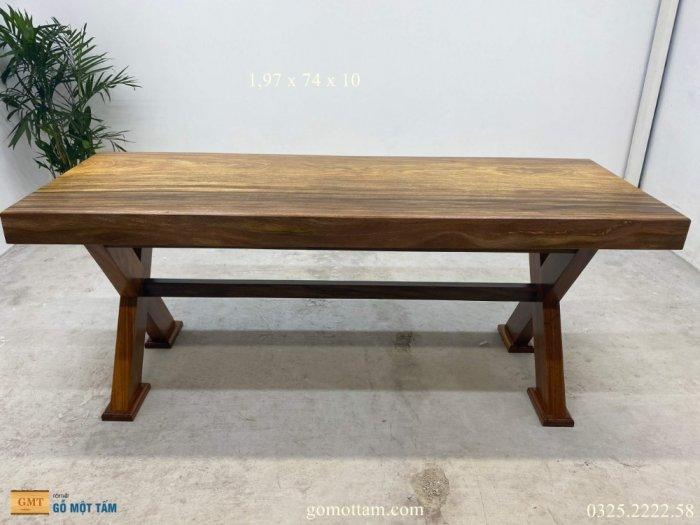 Bàn gỗ tự nhiên nguyên tấm dài 1,97m rộng 72cm dày 10cm10