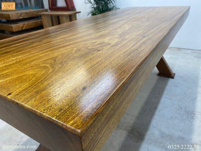 Bàn gỗ tự nhiên nguyên tấm dài 1,97m rộng 72cm dày 10cm7