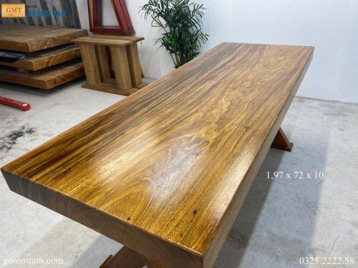 Bàn gỗ tự nhiên nguyên tấm dài 1,97m rộng 72cm dày 10cm6