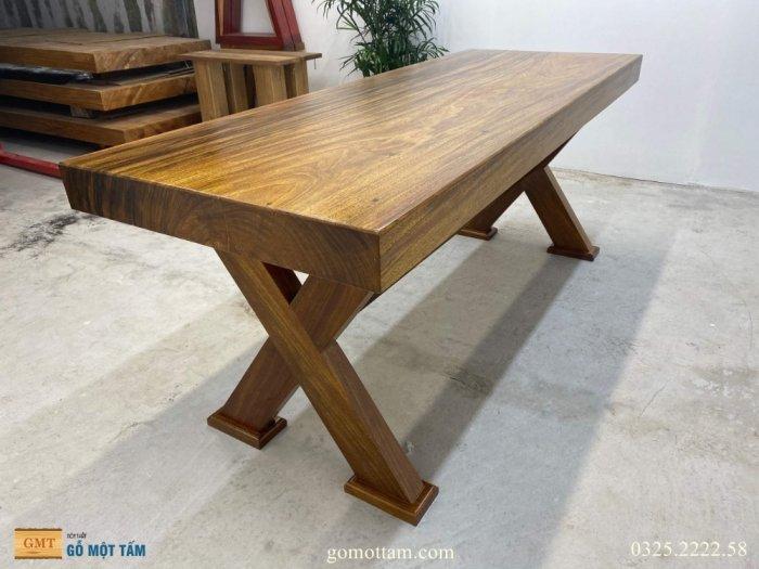 Bàn gỗ tự nhiên nguyên tấm dài 1,97m rộng 72cm dày 10cm4