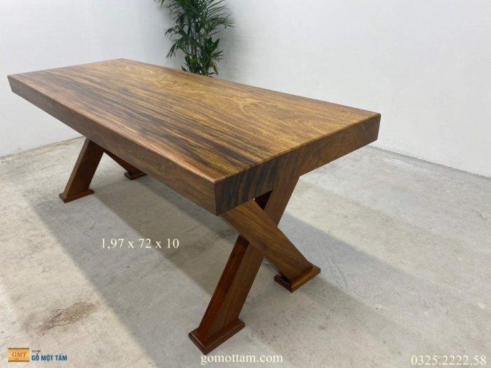Bàn gỗ tự nhiên nguyên tấm dài 1,97m rộng 72cm dày 10cm3