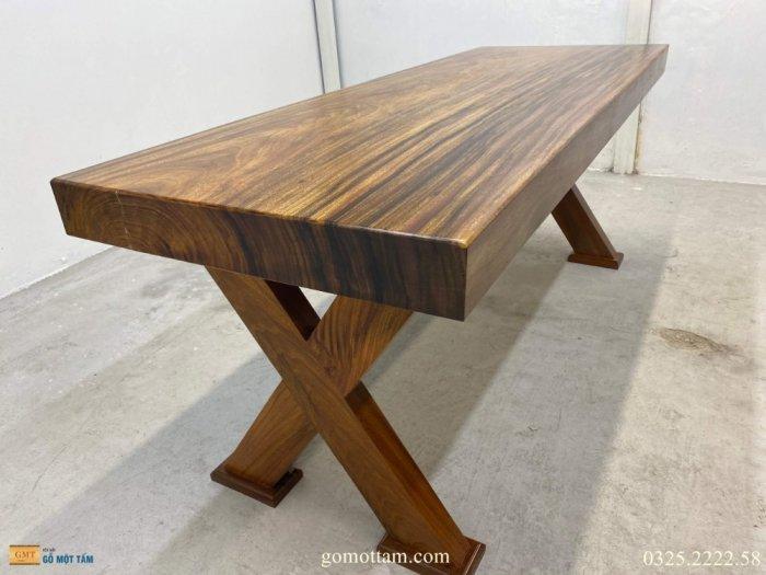 Bàn gỗ tự nhiên nguyên tấm dài 1,97m rộng 72cm dày 10cm1