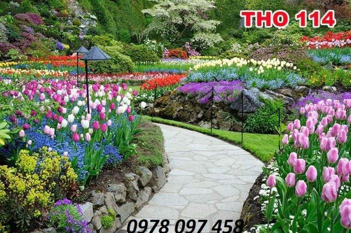 Trang trí nhà cửa - tranh gạch vườn hoa1