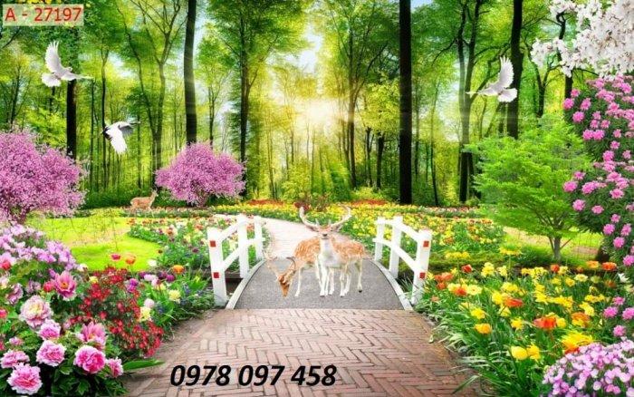 Trang trí nhà cửa - tranh gạch vườn hoa0