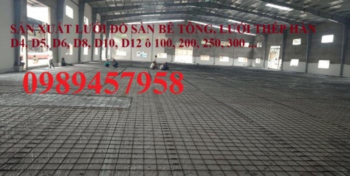 Sản xuất Lưới thép phi 9 ô 100x200, phi 9 ô 200x200, phi 10 a 200x200, D10 a 250x2501