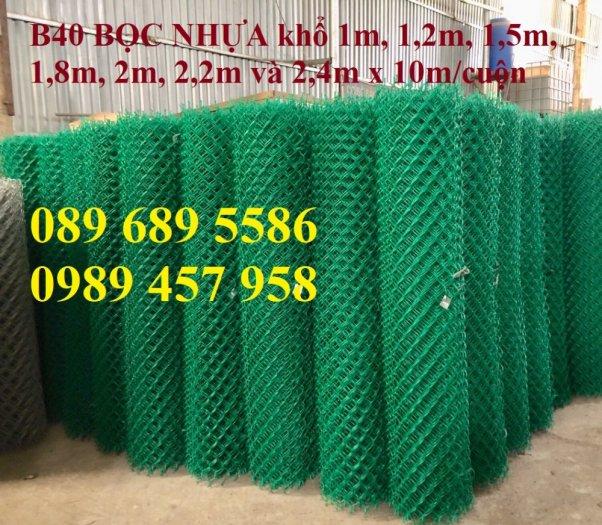 Bán Lưới b40 bọc nhựa làm sân tennis, Lưới làm hàng rào B40 mầu xanh7