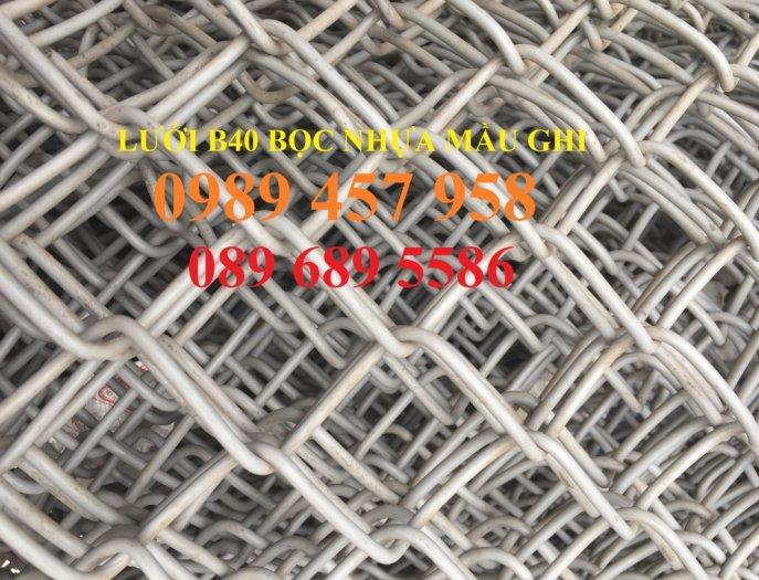 Bán Lưới b40 bọc nhựa làm sân tennis, Lưới làm hàng rào B40 mầu xanh5
