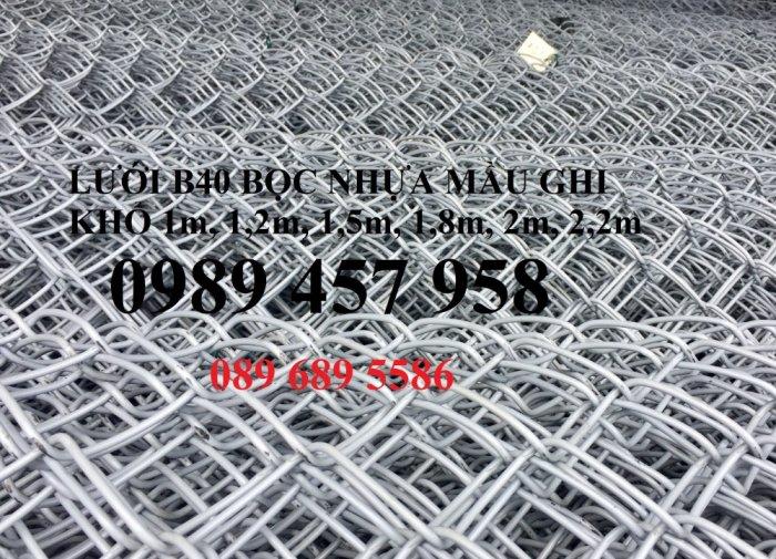 Bán Lưới b40 bọc nhựa làm sân tennis, Lưới làm hàng rào B40 mầu xanh4