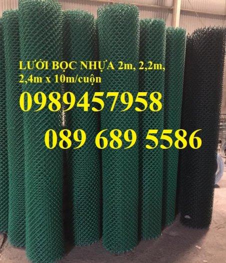 Bán Lưới b40 bọc nhựa làm sân tennis, Lưới làm hàng rào B40 mầu xanh3