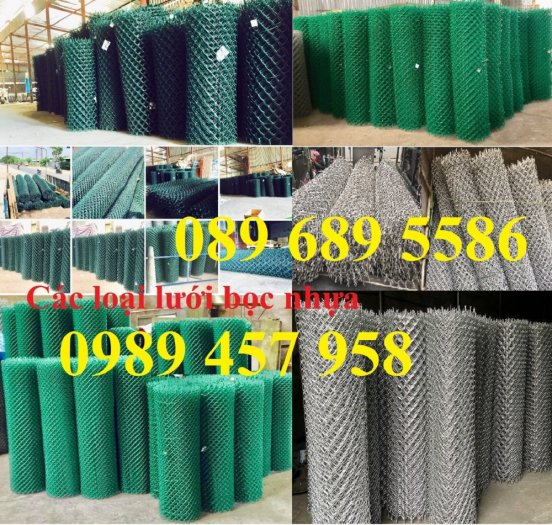 Bán Lưới b40 bọc nhựa làm sân tennis, Lưới làm hàng rào B40 mầu xanh2