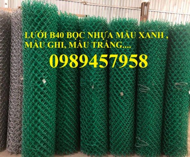 Bán Lưới b40 bọc nhựa làm sân tennis, Lưới làm hàng rào B40 mầu xanh1