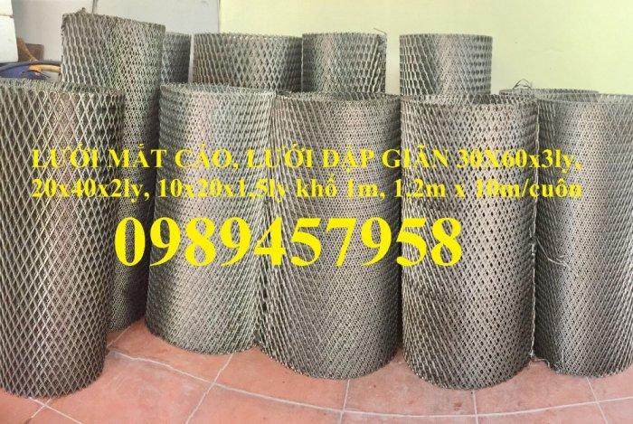 Lưới dập giãn, lưới kéo giãn, lưới hình thoi, lưới mắt cáo 30x60x3ly, 45x90x3ly10