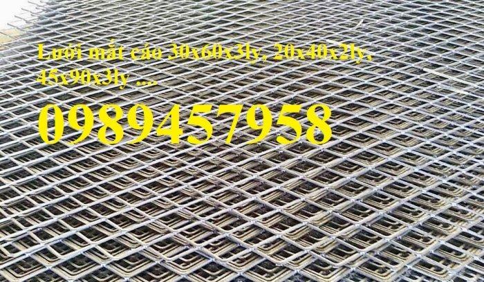 Lưới dập giãn, lưới kéo giãn, lưới hình thoi, lưới mắt cáo 30x60x3ly, 45x90x3ly5