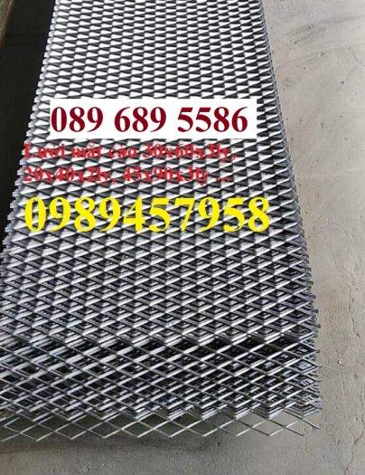 Lưới dập giãn, lưới kéo giãn, lưới hình thoi, lưới mắt cáo 30x60x3ly, 45x90x3ly4