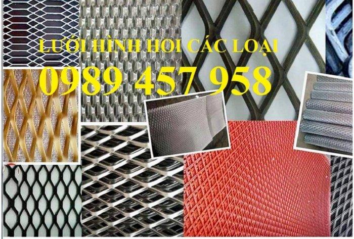 Lưới dập giãn, lưới kéo giãn, lưới hình thoi, lưới mắt cáo 30x60x3ly, 45x90x3ly1