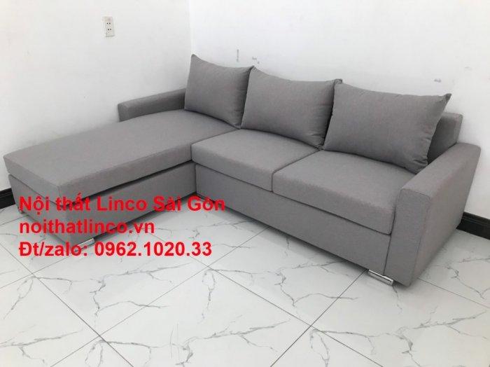 Sofa góc L | Salon góc chữ L Xám ghi trắng giá rẻ đẹp | Sofa Linco Bình Dương10