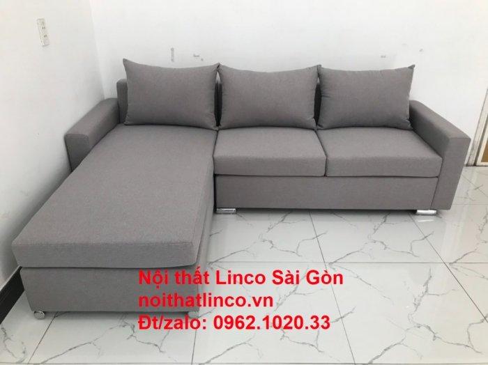 Sofa góc L | Salon góc chữ L Xám ghi trắng giá rẻ đẹp | Sofa Linco Bình Dương9