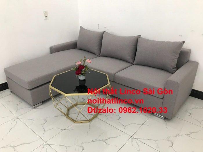 Sofa góc L | Salon góc chữ L Xám ghi trắng giá rẻ đẹp | Sofa Linco Bình Dương8