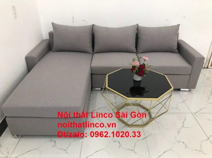 Sofa góc L | Salon góc chữ L Xám ghi trắng giá rẻ đẹp | Sofa Linco Bình Dương7