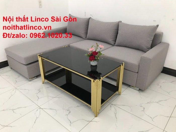 Sofa góc L | Salon góc chữ L Xám ghi trắng giá rẻ đẹp | Sofa Linco Bình Dương6