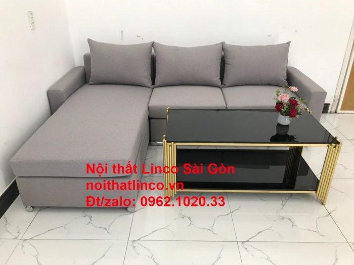 Sofa góc L | Salon góc chữ L Xám ghi trắng giá rẻ đẹp | Sofa Linco Bình Dương5