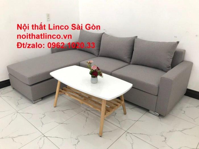 Sofa góc L | Salon góc chữ L Xám ghi trắng giá rẻ đẹp | Sofa Linco Bình Dương4