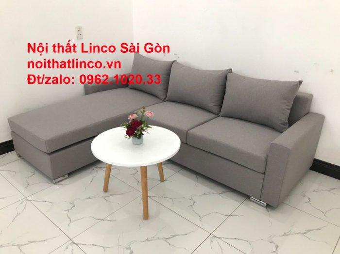 Sofa góc L | Salon góc chữ L Xám ghi trắng giá rẻ đẹp | Sofa Linco Bình Dương2