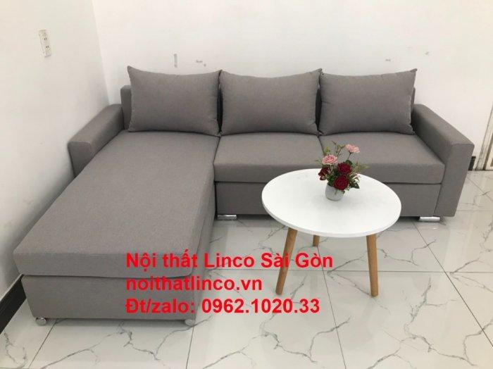 Sofa góc L | Salon góc chữ L Xám ghi trắng giá rẻ đẹp | Sofa Linco Bình Dương1