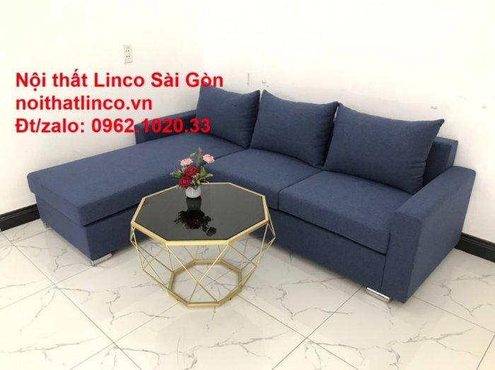 Sofa góc L giá rẻ | Salong góc chữ L 2m2 đẹp hiện đại Nội thất Linco Sài Gòn8