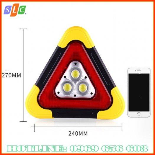 Biển tam giác phản quang cảnh báo nguy hiểm cho ô tô dùng năng lượng mặt trời với nhiều chế độ nháy sáng4