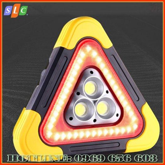 Biển tam giác phản quang cảnh báo nguy hiểm cho ô tô dùng năng lượng mặt trời với nhiều chế độ nháy sáng2