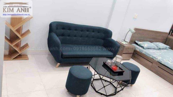 Ghế sofa băng bọc vải cho phòng khách chung cư nhỏ tại bình dương11