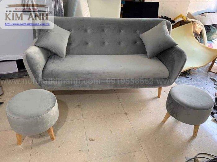 Ghế sofa băng bọc vải cho phòng khách chung cư nhỏ tại bình dương10