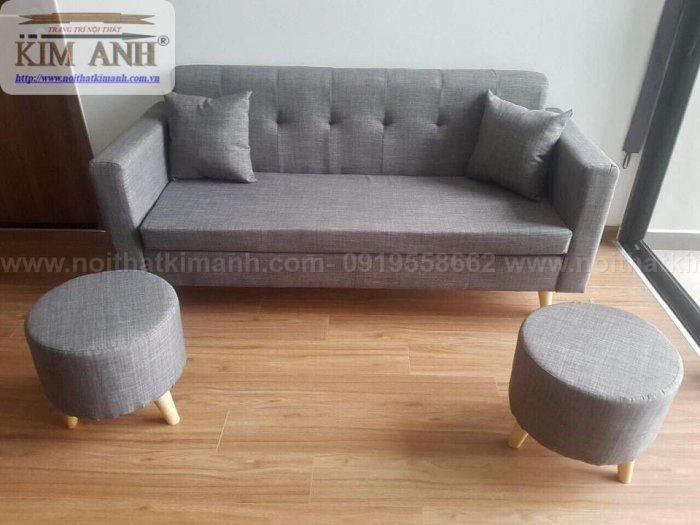 Ghế sofa băng bọc vải cho phòng khách chung cư nhỏ tại bình dương6