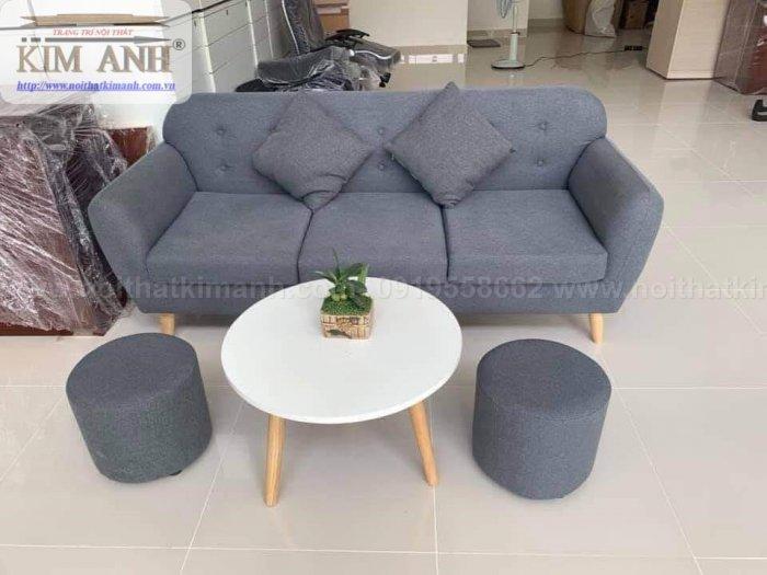 Ghế sofa băng bọc vải cho phòng khách chung cư nhỏ tại bình dương5