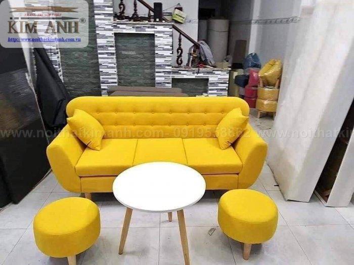 Ghế sofa băng bọc vải cho phòng khách chung cư nhỏ tại bình dương2