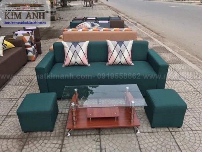Ghế sofa băng bọc vải cho phòng khách chung cư nhỏ tại bình dương1