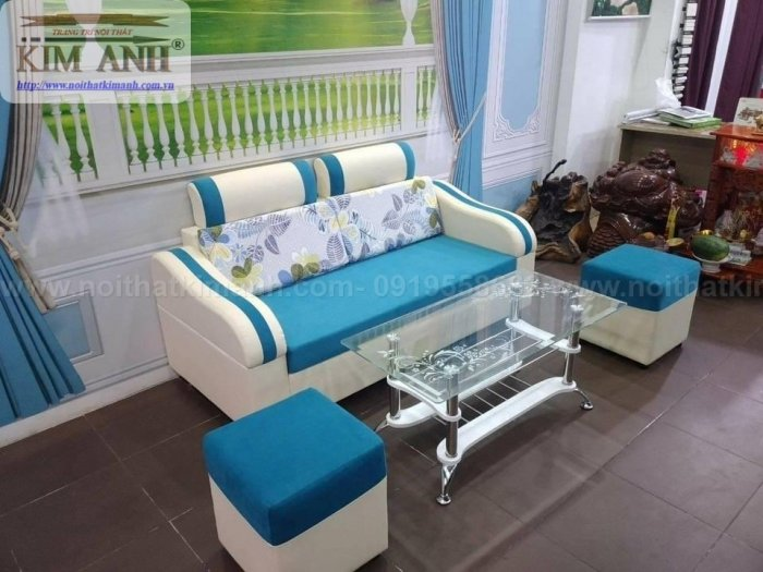 Ghế sofa băng bọc vải cho phòng khách chung cư nhỏ tại bình dương0