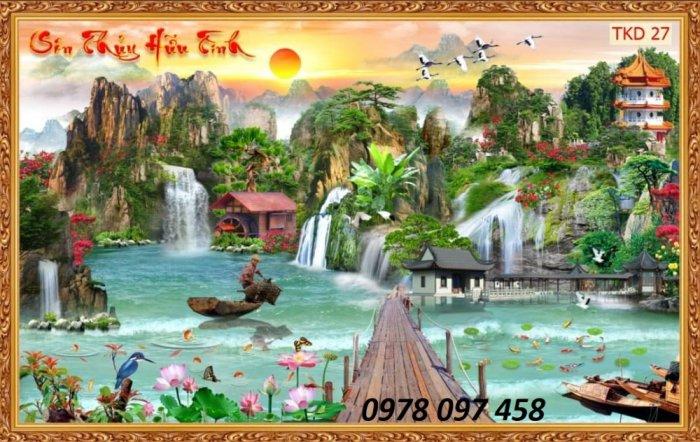 Tranh phong cảnh thiên nhiên - tranh gạch men2