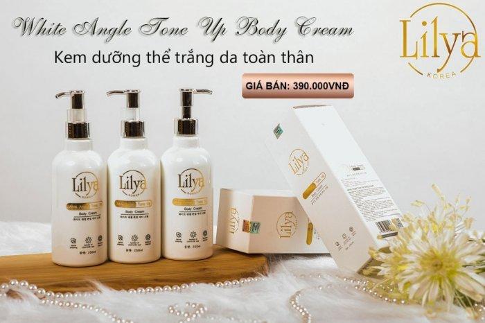 Kem dưỡng thể trắng da toàn thân Lilya – White Angle Tone Up Body Cream2