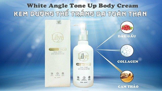 Kem dưỡng thể trắng da toàn thân Lilya – White Angle Tone Up Body Cream0