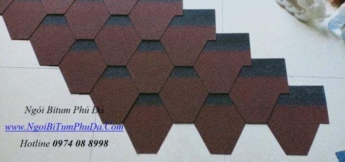 Tấm lợp giấy dầu giả đá dán mái bê tông, mái hình cầu, bungalow7