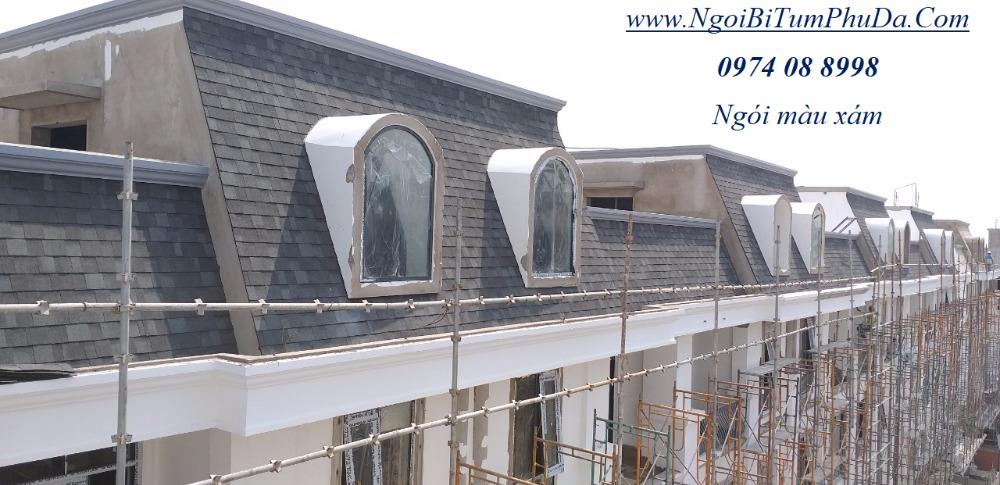 Tấm lợp giấy dầu giả đá dán mái bê tông, mái hình cầu, bungalow3