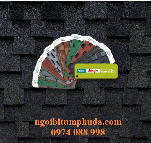 Ngói bitum giả đá nhập khẩu siêu nhẹ, ngói dán mái giả giấy dầu cao cấp5
