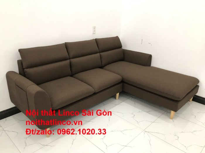 Sofa góc | Sopha góc L Nâu socola rẻ đẹp Hiện Đại ở tại Sofa Linco Long An10