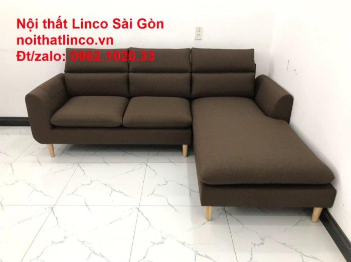 Sofa góc | Sopha góc L Nâu socola rẻ đẹp Hiện Đại ở tại Sofa Linco Long An9