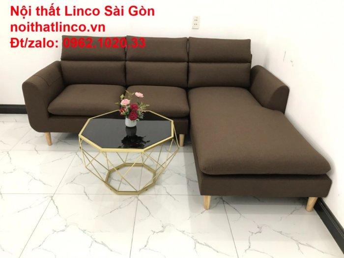 Sofa góc | Sopha góc L Nâu socola rẻ đẹp Hiện Đại ở tại Sofa Linco Long An7
