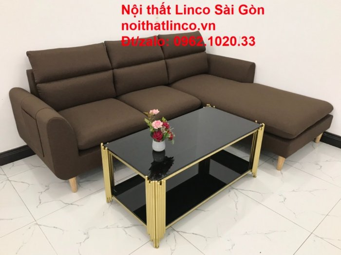 Sofa góc | Sopha góc L Nâu socola rẻ đẹp Hiện Đại ở tại Sofa Linco Long An6