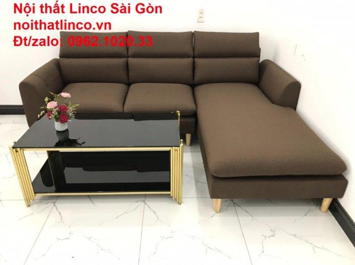 Sofa góc | Sopha góc L Nâu socola rẻ đẹp Hiện Đại ở tại Sofa Linco Long An5